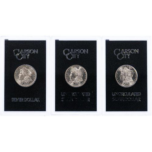 1882-CC, 1883-CC and 1884-CC $1 GSA MS-63 Assortment
