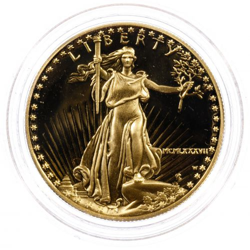 1987-W $50 Gold Proof American Eagle