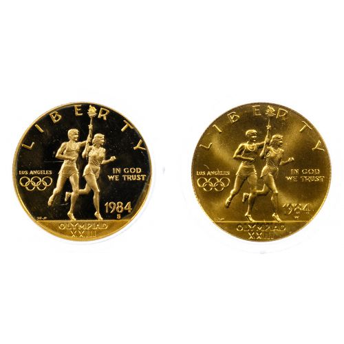 1984-S, 1984-W $10 Gold Olympic Commemoratives