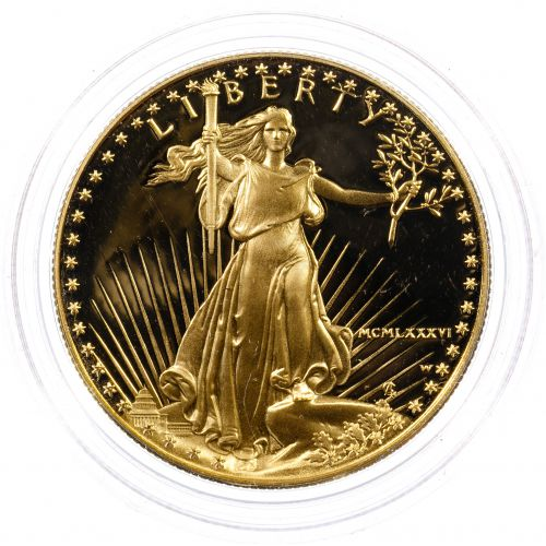 1986-W $50 Gold Proof American Eagle