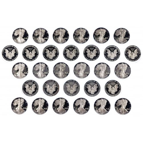 1987-S $1 Proof Silver Eagle Assortment