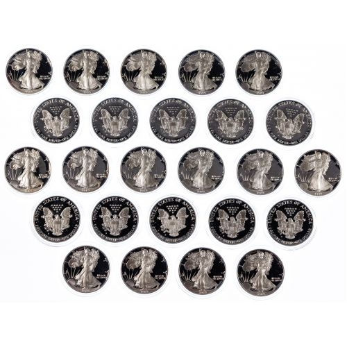 1989-S $1 Proof Silver Eagle Assortment