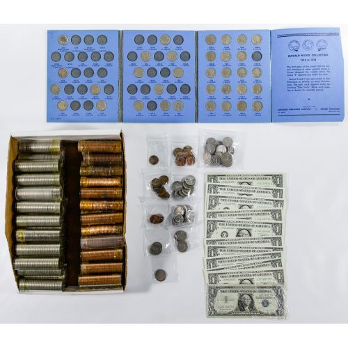 US Miscellaneous Coin and Currency Assortment