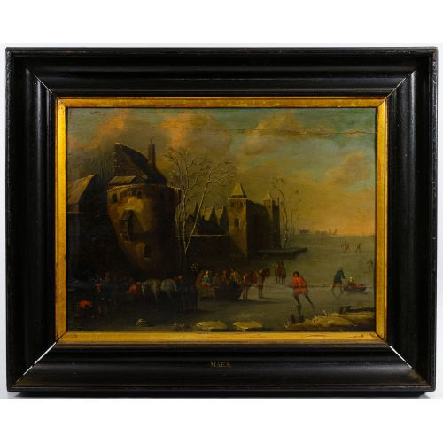 (School Of) Frederick Maes (European, 17th Century) Oil on Board