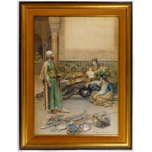 Gustavo Simoni (Italian, 1846-1926) Watercolor on Paper