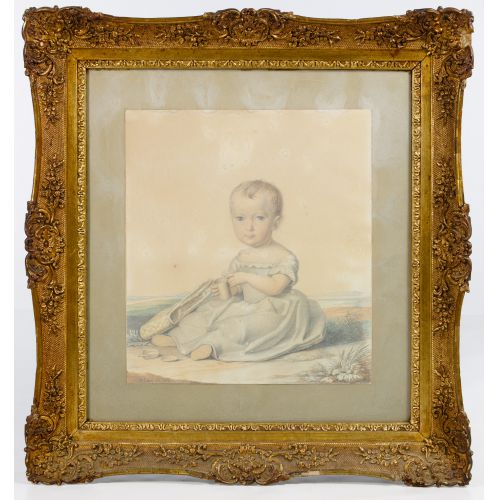 Unknown Artist (American, 19th Century) Watercolor on Paper