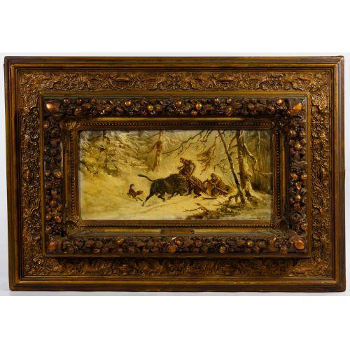 Jwan Petowitsch Orloff (Russian, 1815-1861) Oil on Board