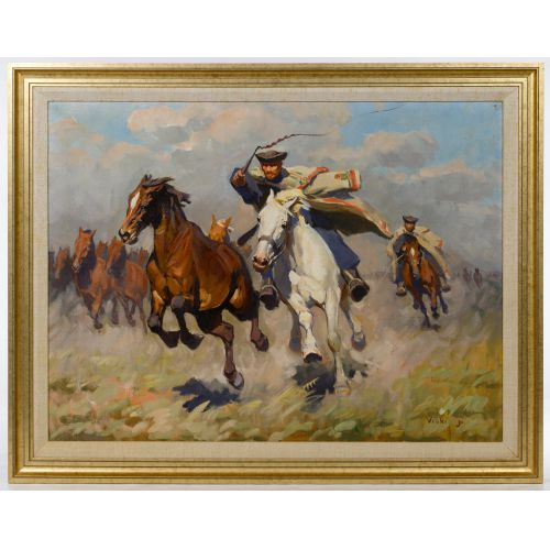J Viski (Hungarian, 1891-1961) Oil on Canvas
