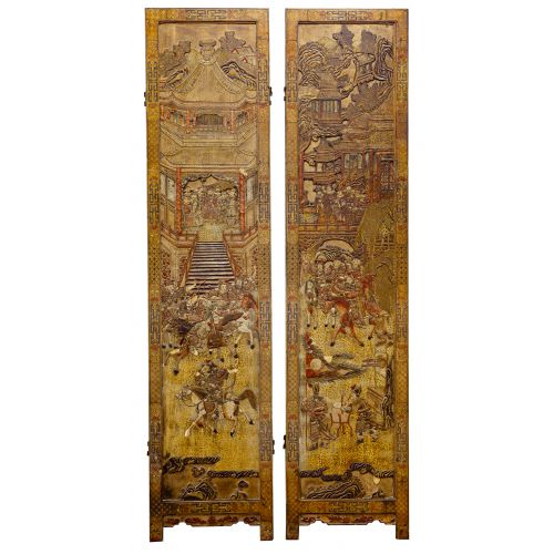 Asian Two-Panel screen