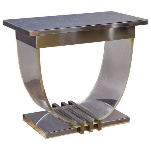 Modern Chrome and Lucite Table