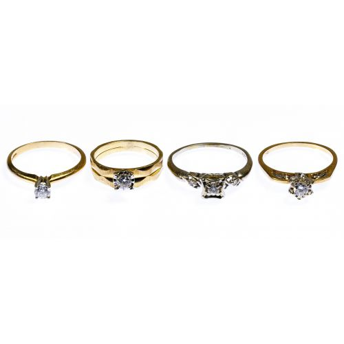 14k Yellow and White Gold Diamond Ring Assortment