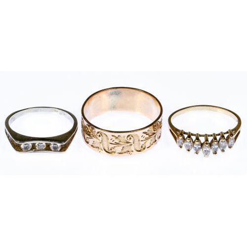 14k Gold and Diamond Ring Assortment