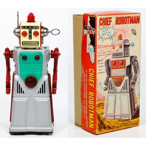 """KO Japanese """"Chief Robotman"""" Battery Operated Toy"""