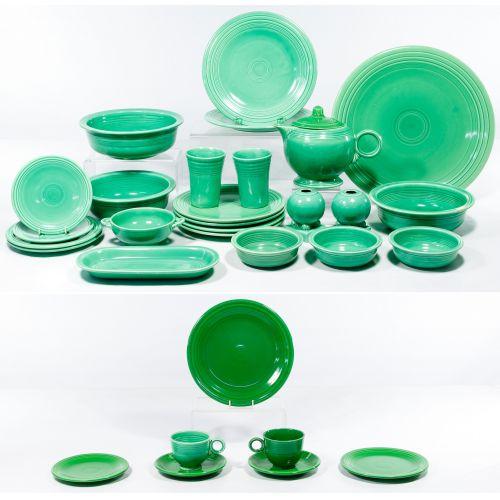 """Homer Laughlin Fiestaware """"Light Green"""" and """"Medium Green"""" Assortment"""