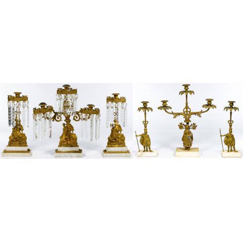 Brass Girandola Candleabra Sets