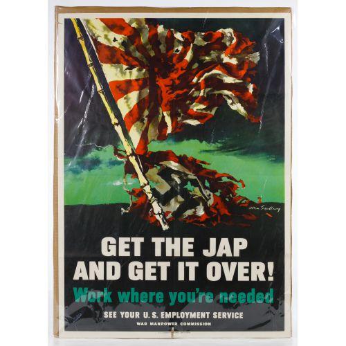 """World War II US """"Get the Jap"""" War Poster"""