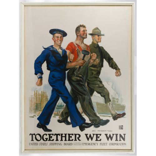 "James Montgomery Flagg (American, 1870-1960) ""Together We Win"" Poster"