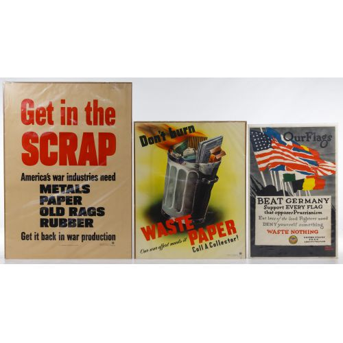 "World War II US ""Recycle / Reduce"" War Posters"