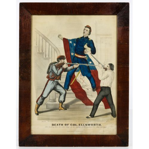 "Currier & Ives ""Death of Col. Ellsworth"" Print"