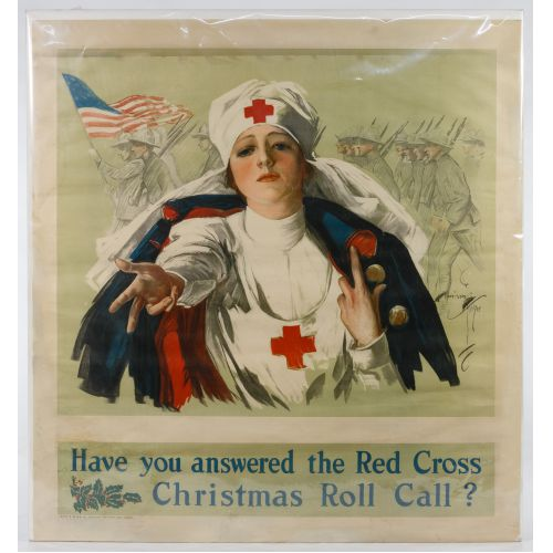 "World War I Red Cross ""Christmas Roll Call"" Poster"