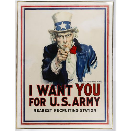 """James Montgomery Flagg (American, 1870-1960) """"I Want You for U S Army"""" Poster"""