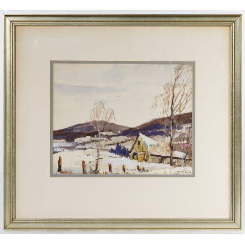 John Cowan Templeton (American, 1880-1958) Watercolor on Paper