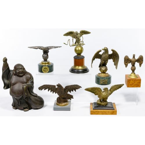 Buddha and Eagle Cast Metal Statue Assortment