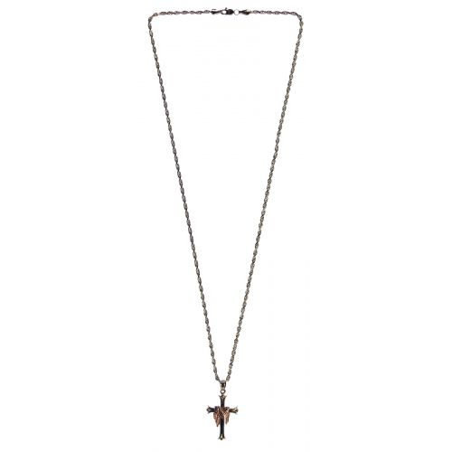 14k Gold Necklace and Cross Pendant