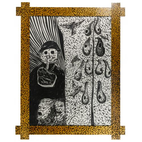 Italo Scanga (American / Italian, 1932-2001) Charcoal on Paper
