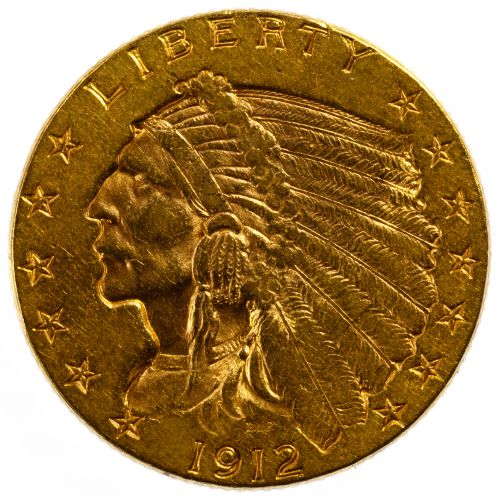 1912 $2 1/2 Gold