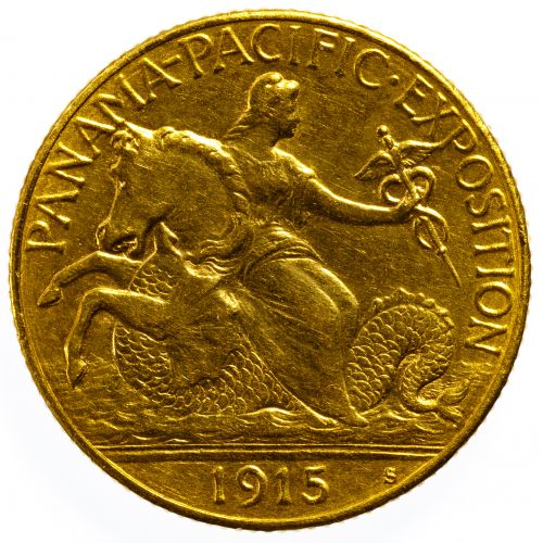 1915-S $2 1/2 Gold Pan Pacific