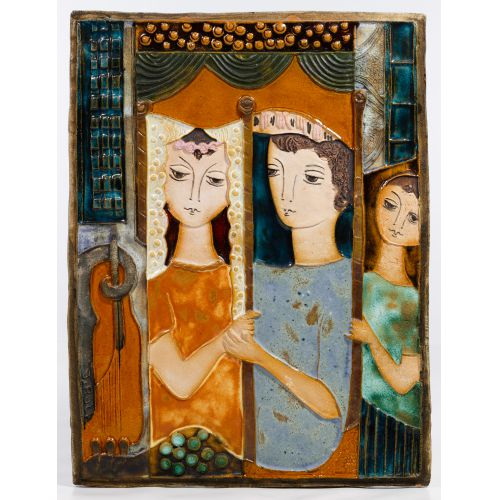 Ruth Faktorowicz (Israeli, b.1937) Ceramic Tile