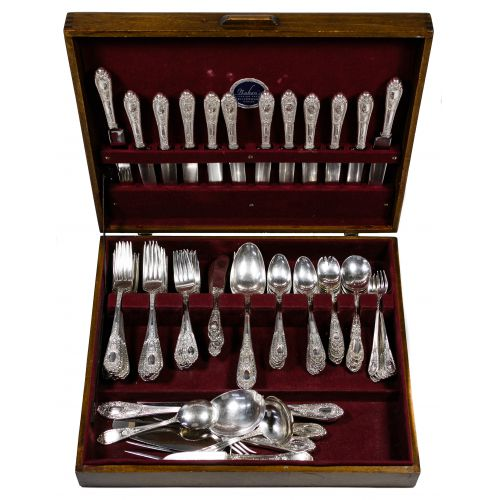 "International ""Fontaine"" Sterling Silver Flatware Service"