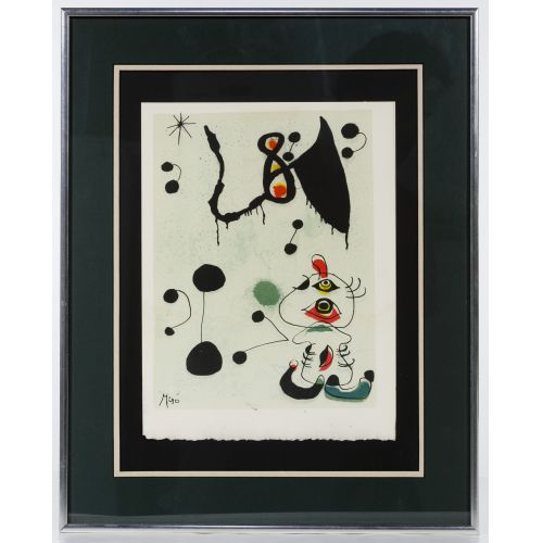 (Attributed to) Joan Miro (French, 1892-1983) Lithograph
