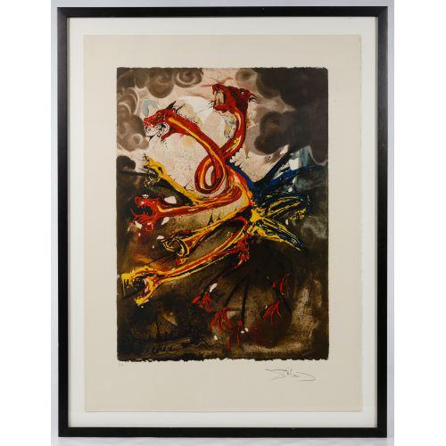 "Salvador Dali (Spanish, 1904-1989) ""Les Hydres"" Lithograph"
