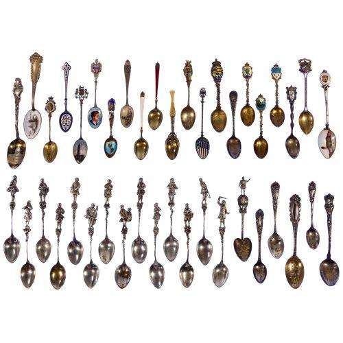 Sterling Silver Souvenir Spoon Assortment