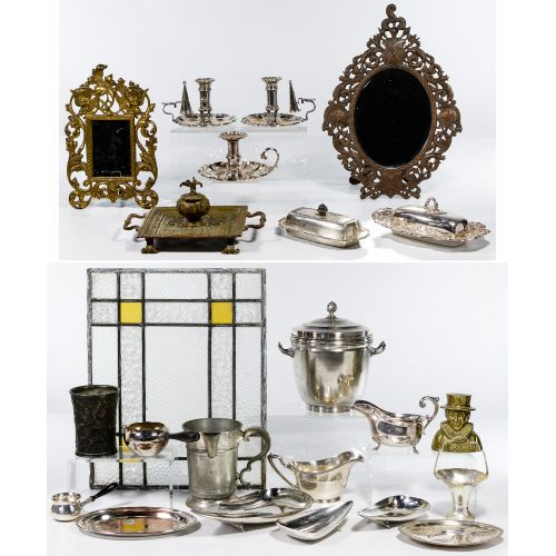 Silver Plate and Metal Assortment