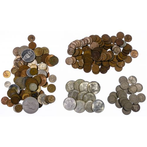 US and World Currency and Coin Assortment