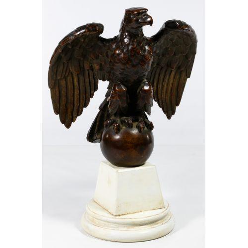 Bronze Eagle Flagpole Finial