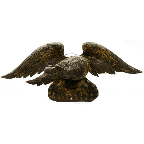 Eagle Carved Wood Statue