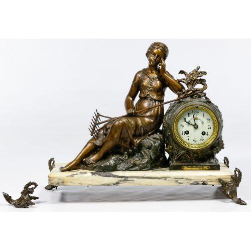 Ruffony French Figural Mantel Clock