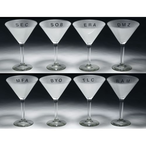 Adam Brooks (American, b.1959) Martini Glasses