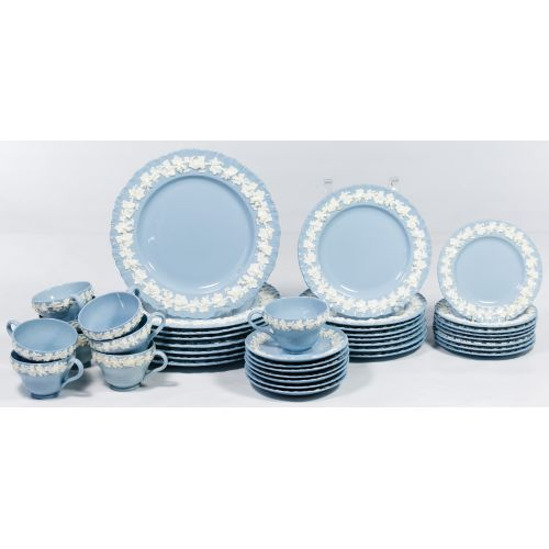 """Wedgwood """"Queensware"""" Blue and White China Service"""
