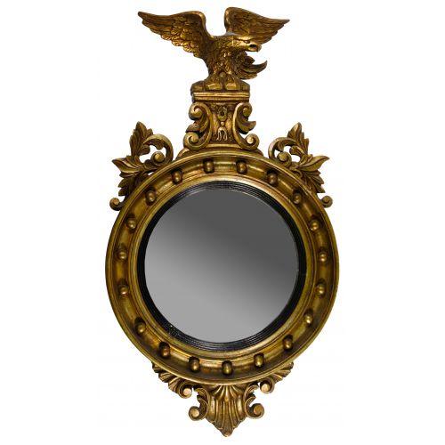 Federal Style Bullseye Convex Wall Mirror