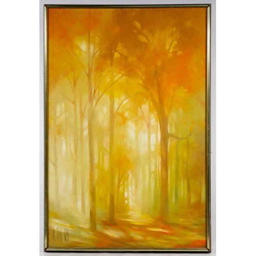 M Beverly Bunn (American, 20th Century) Oil on Canvas