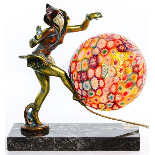 Gerdago for J B Hirsch Pixie Lamp with Millefiori Shade