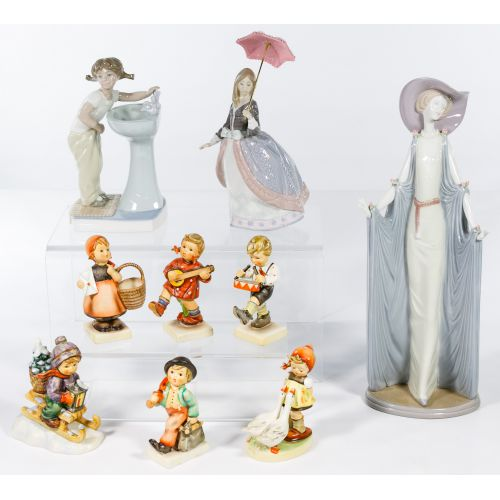 Lladro and Hummel Figurine Assortment