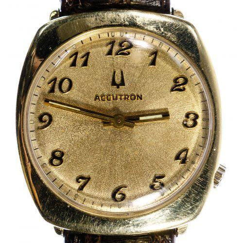 "Bulova ""Accutron"" 14k Gold Case Wrist Watch"