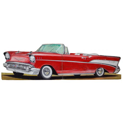 Painted Plywood Chevolet Belair Car