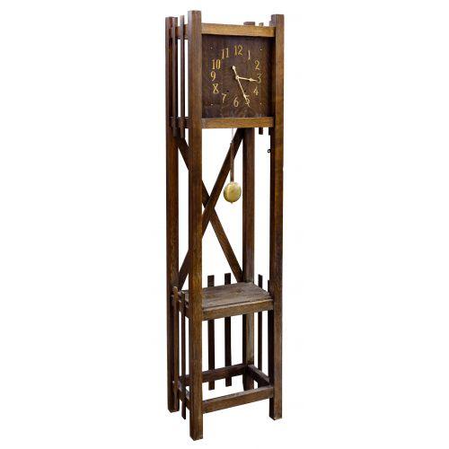 Arts and Crafts Oak Grandfather Clock